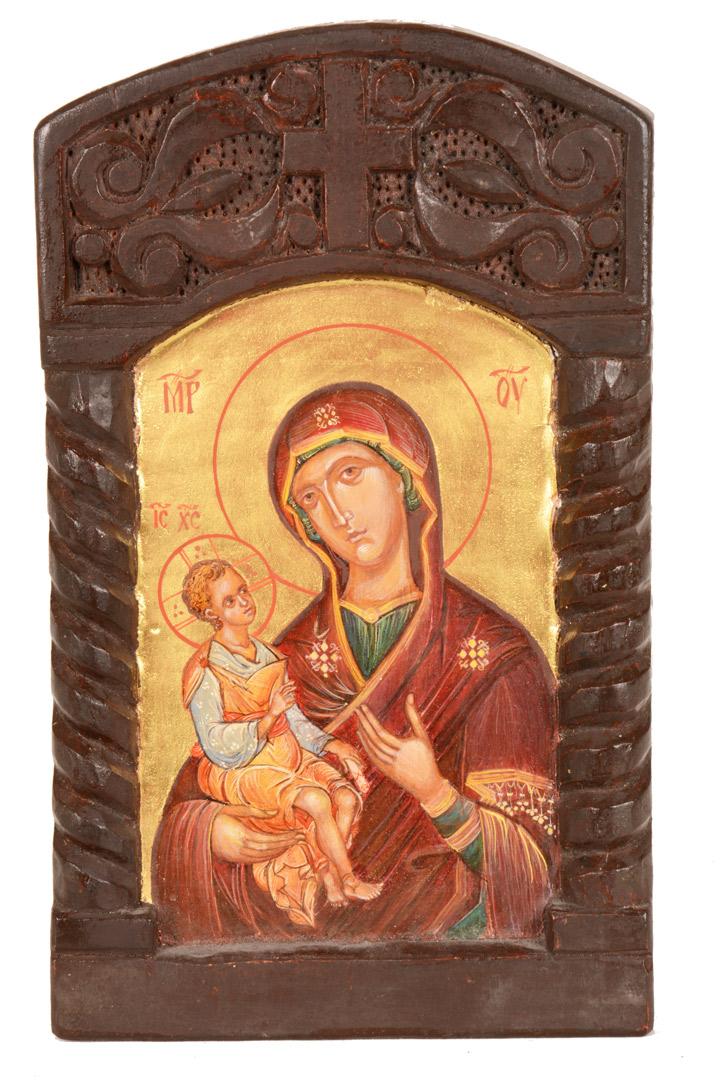 Icona Madonna con Bambino cm 25x15