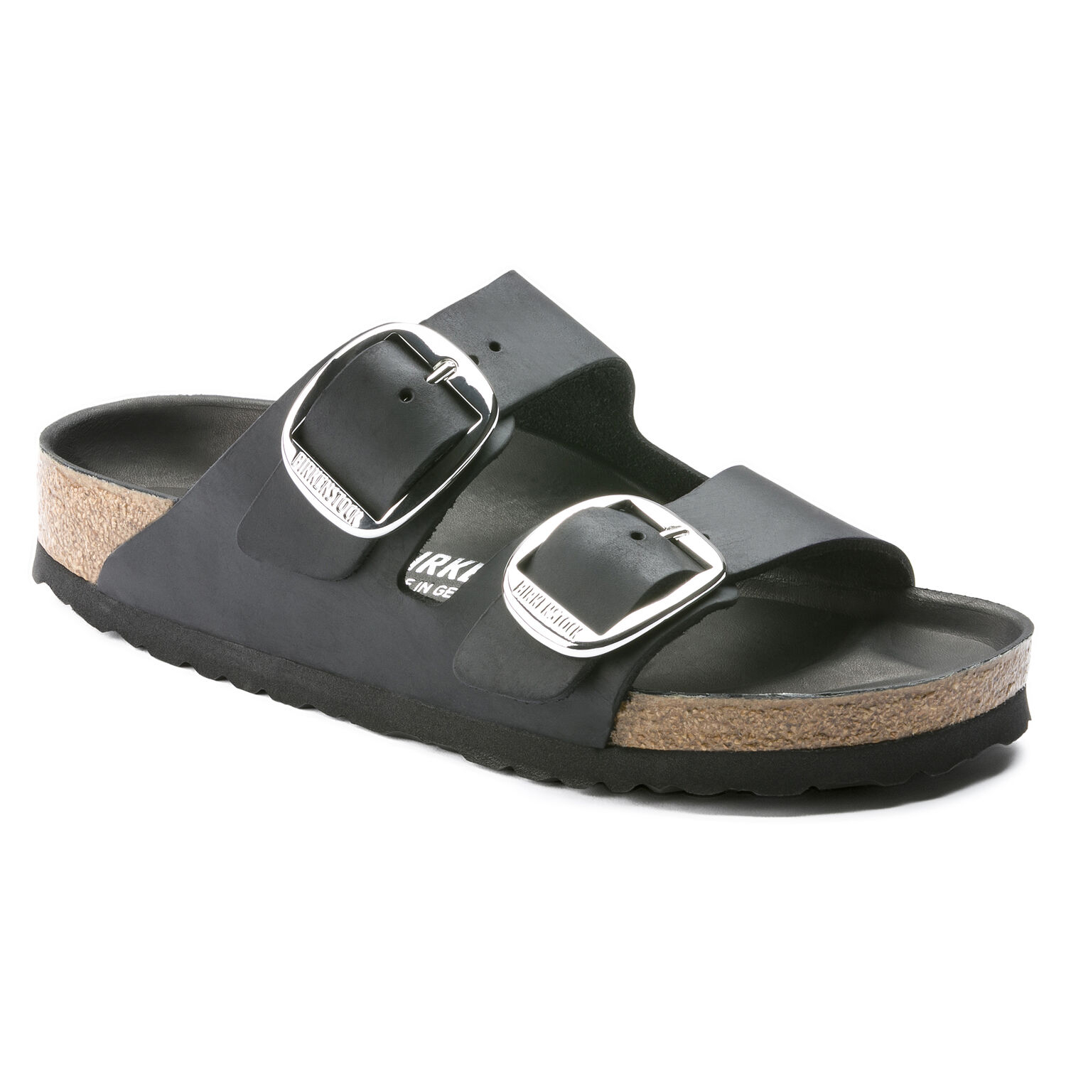 Ciabatte donna BIRKENSTOCK ARIZONA NERA BIG BUCKLE