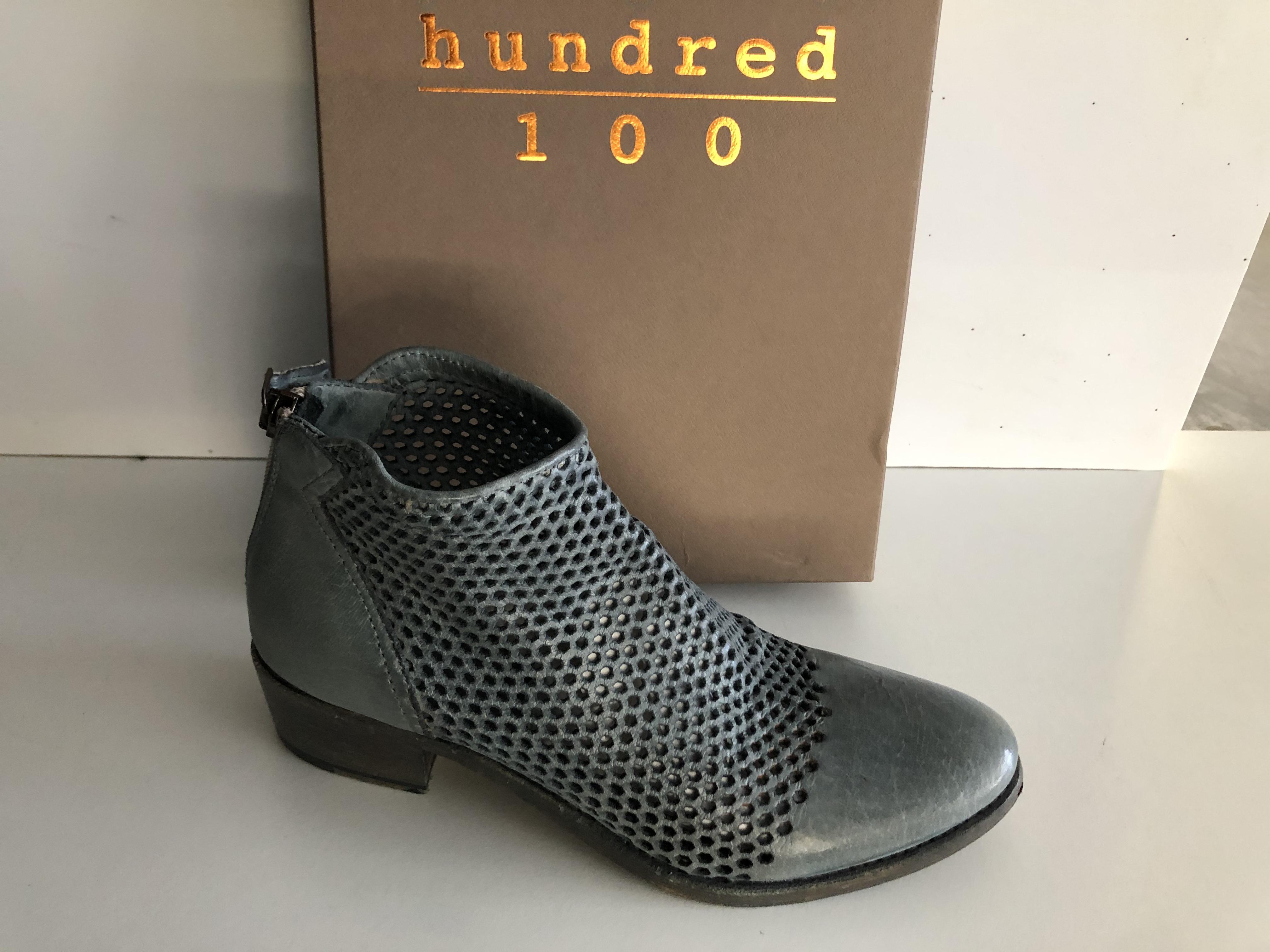 Hundred 100 Scarpa Donna Tronchetto T.Capo Jeans W860-11
