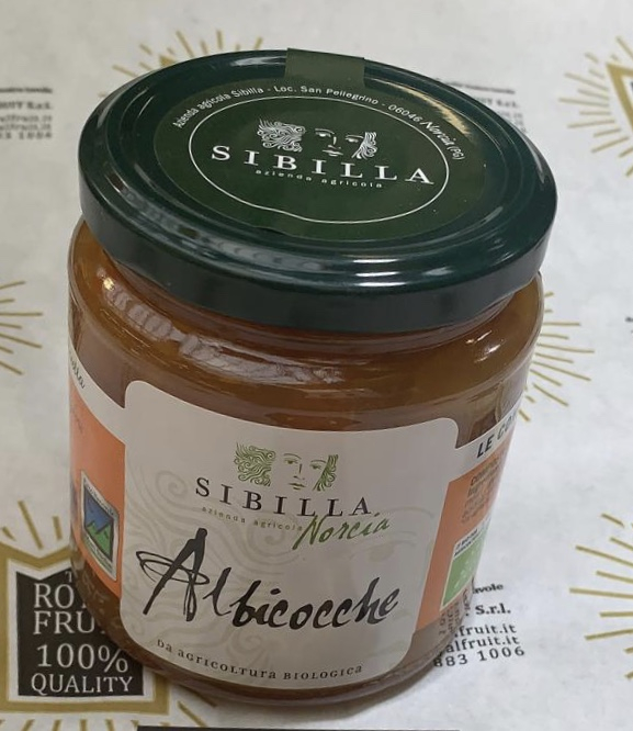 Marmellata Biologica all'Albicocca 340 gr.