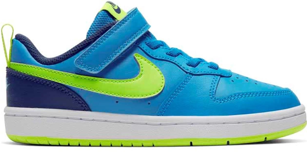 Nike Court Borough Low 2 Scarpe da Corsa Bambino BQ5451-400LASER BLUE/LEMON VENOM  -8