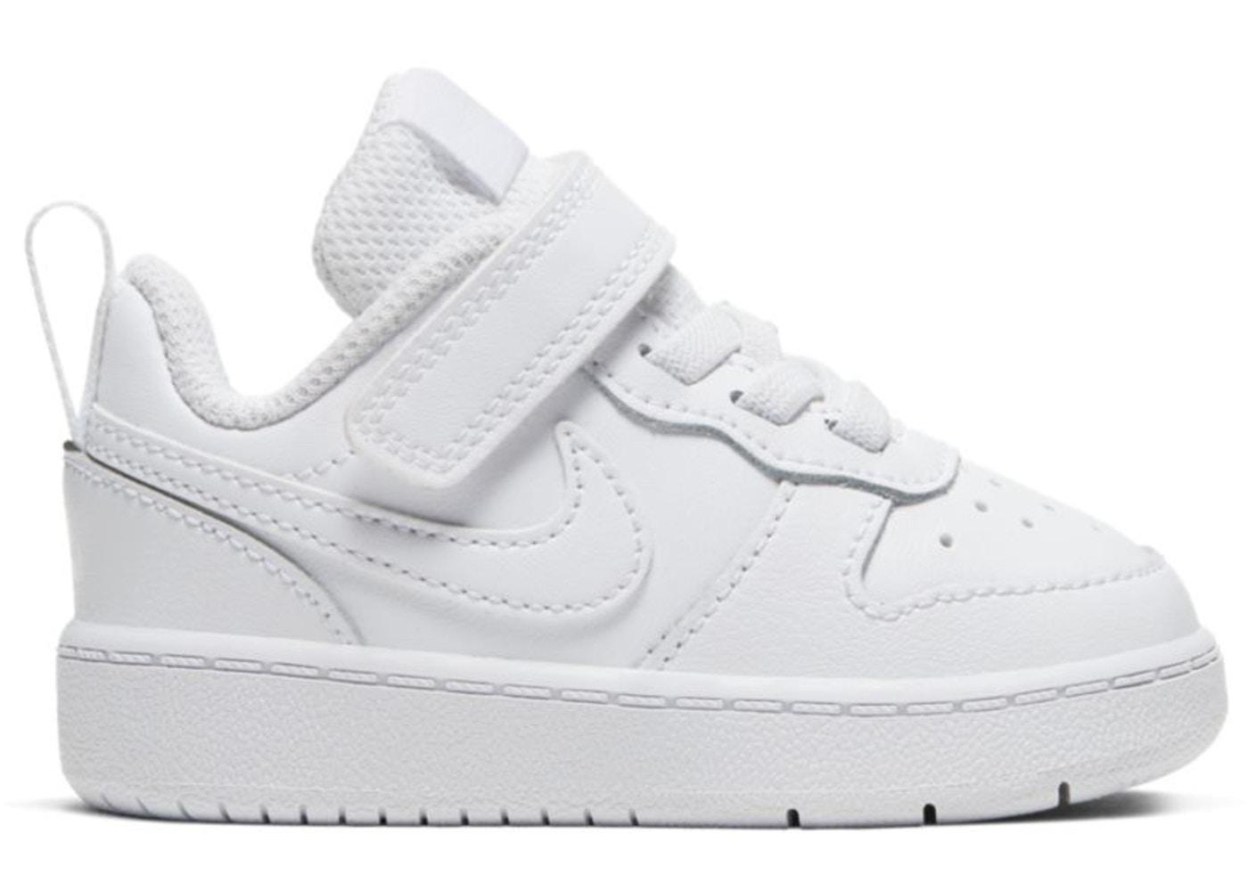Nike Court Borough Low 2 Scarpe da Ginnastica Unisex Bambini BQ5453-100WHITE/WHITE  -8
