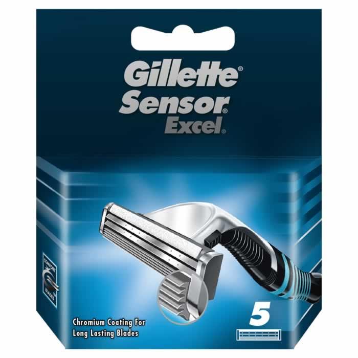 Gillette Sensor Excel Ricarica 5 Unità