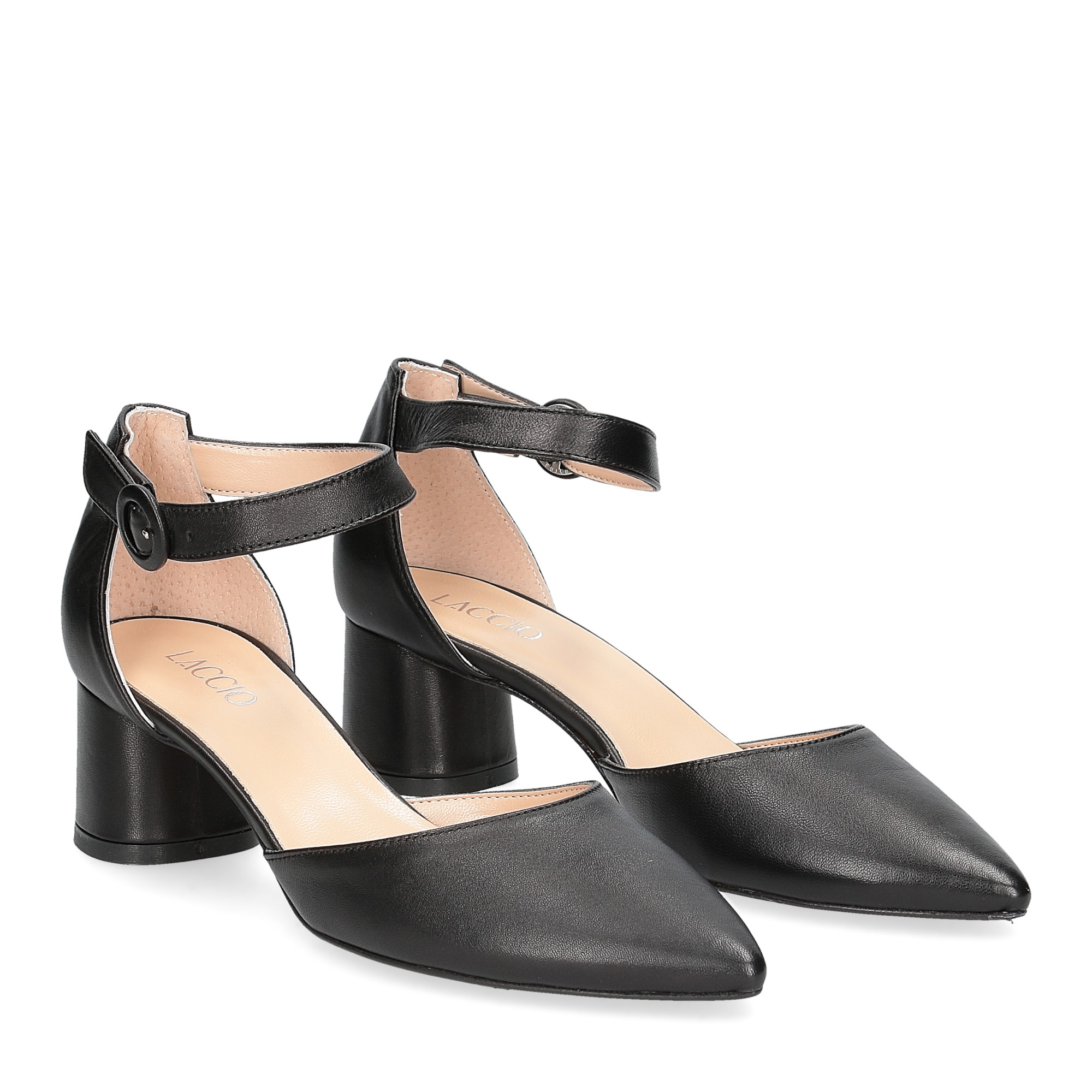 Il Laccio sandaliera 1415 pelle nera