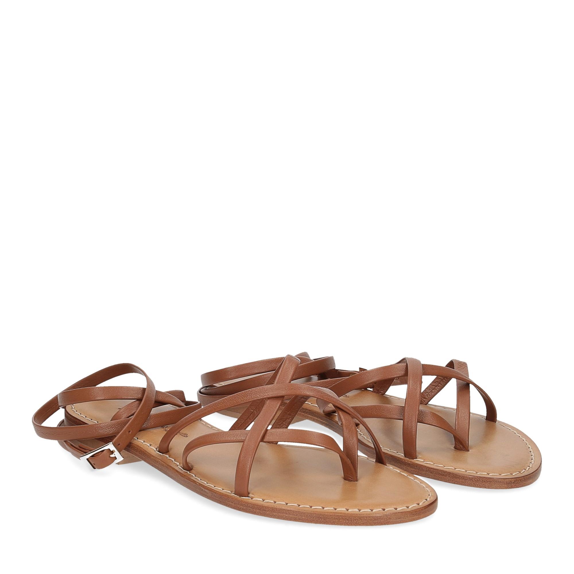 De Capri a Paris sandalo infradito 28 sandy marrone