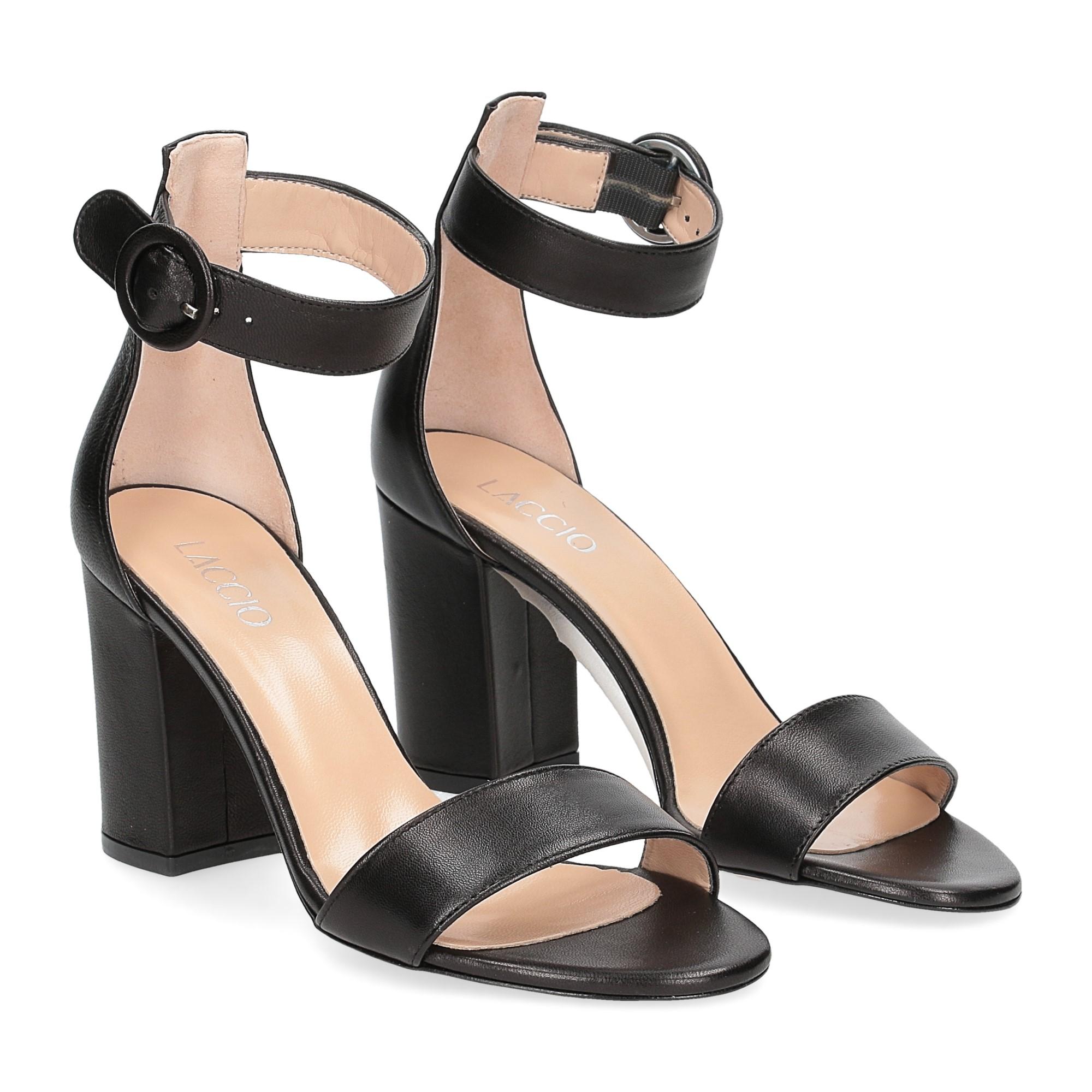 Il Laccio sandalo 1101 pelle nero