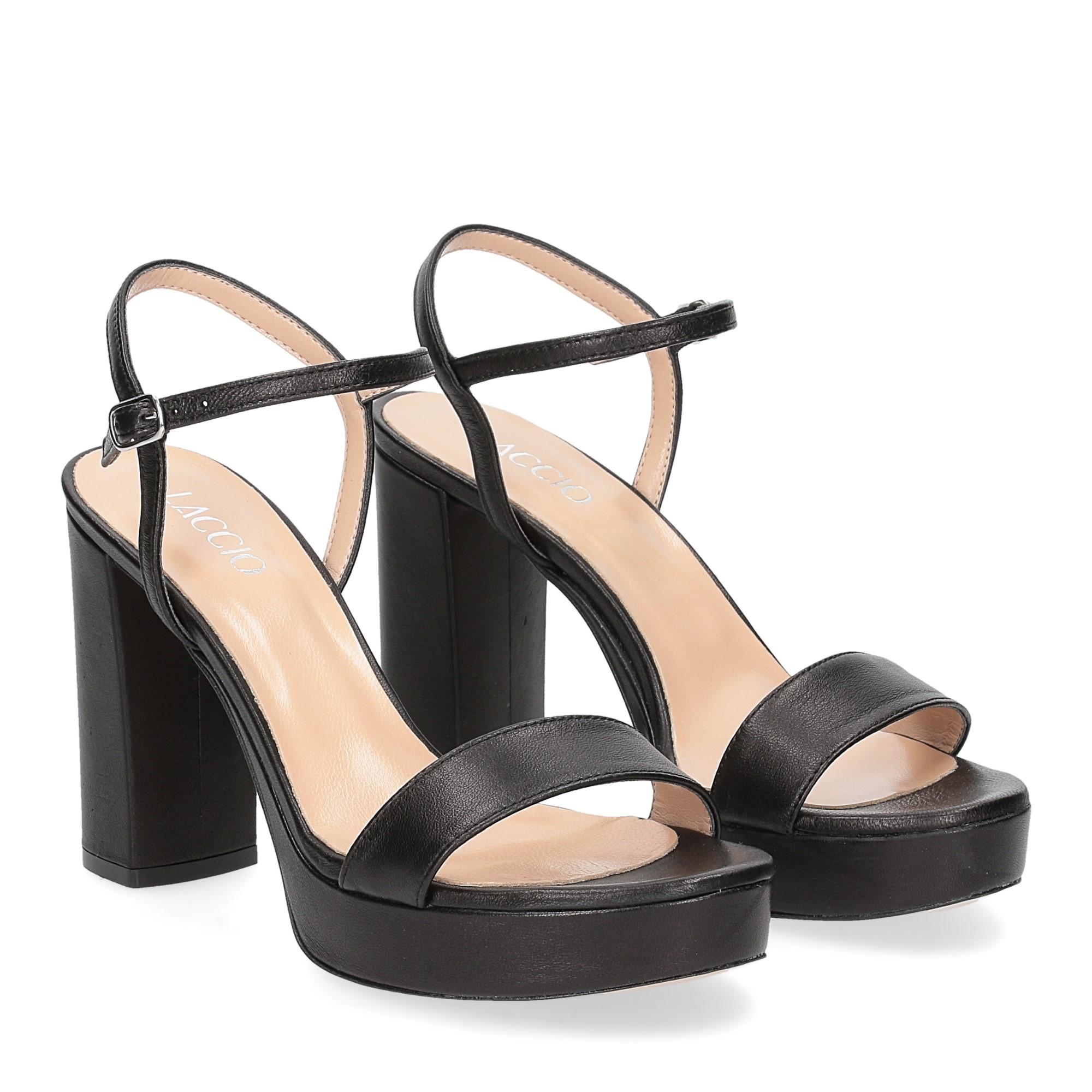 Il Laccio sandalo 2846 pelle nero