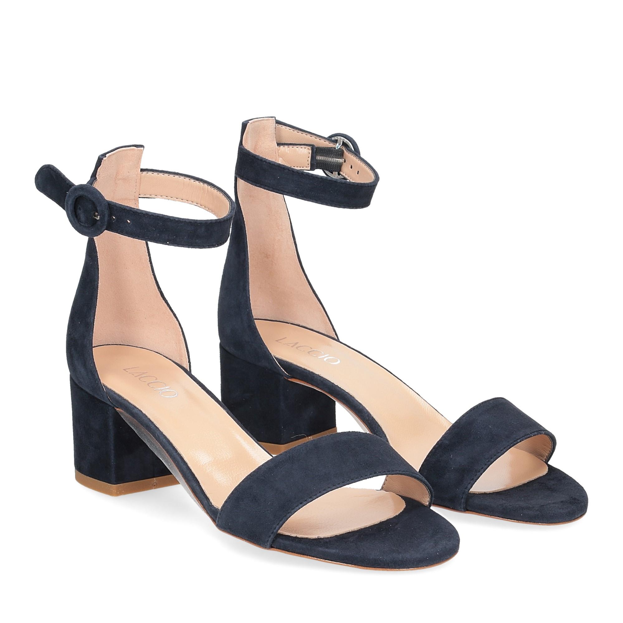 Il Laccio sandalo 669 camoscio blu