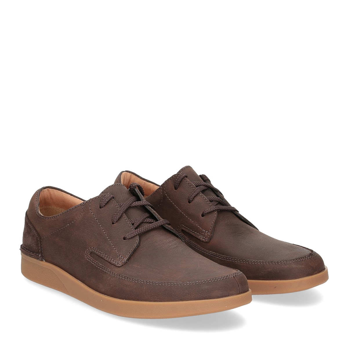 Clarks Oackland Craft dark brown nubuck