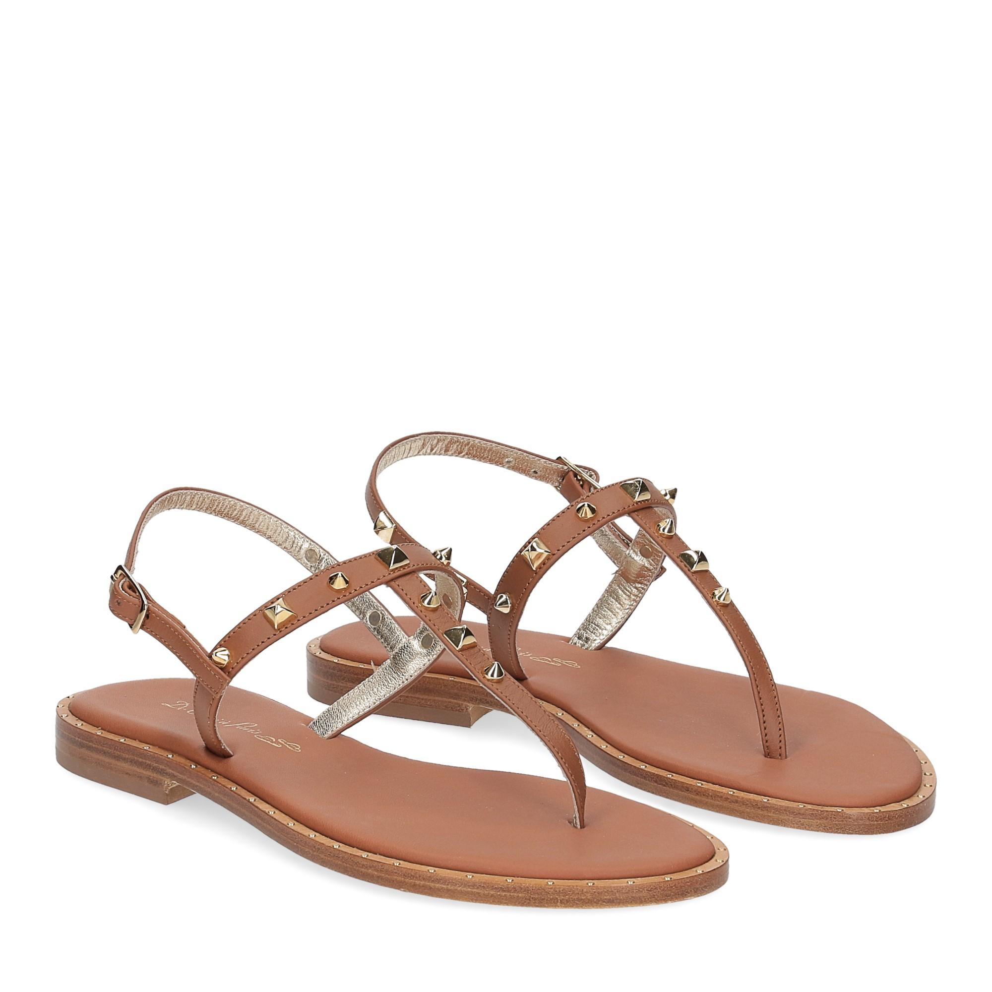 De Capri a Paris sandalo infradito pelle cuoio