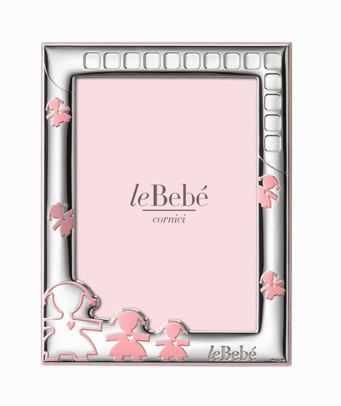LeBebé Cornice Linea Amore -Letterine, Rosa