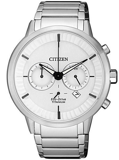 Citizen Modern design quadrante bianco, Super Titanio PTIC