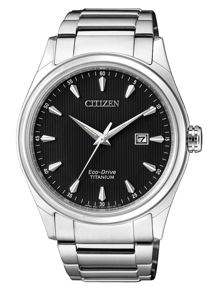 Citizen Uomo Supertitanio 7360 Quadrante nero, indici