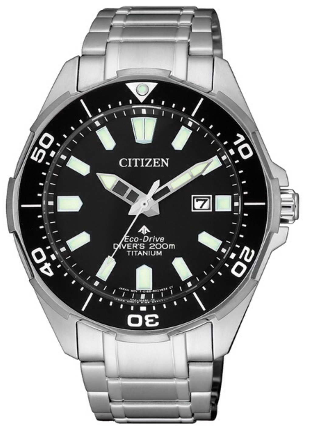 Citizen Diver's Supertitanio - Quadrante nero, cassa e bracciale Supertitanio