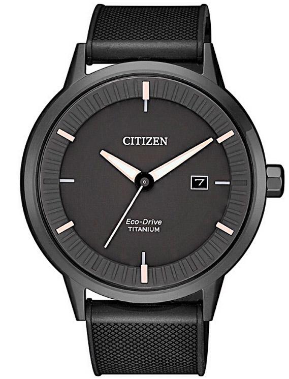 Citizen Modern design - Quadrante nero, particolari oro, Super Titanio nero DLC
