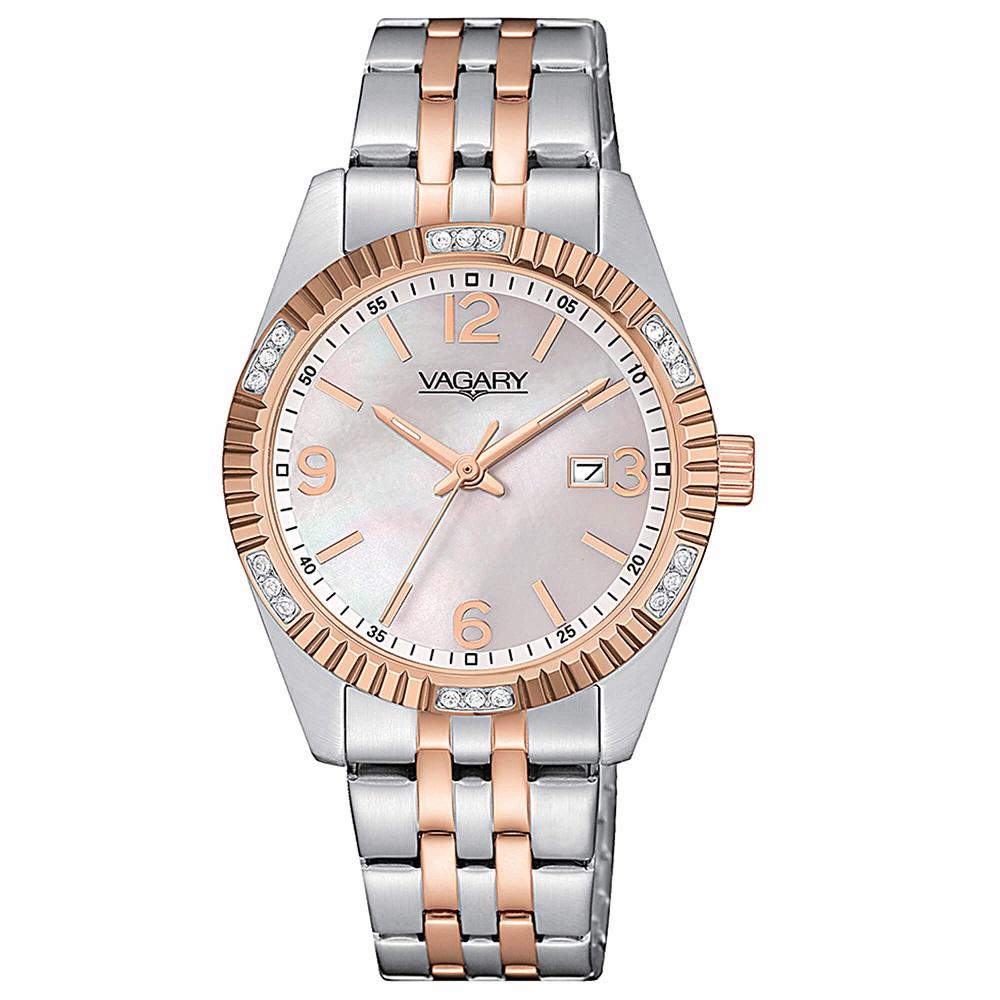 Vagary Timeless Lady, acciaio bicolore, cristalli