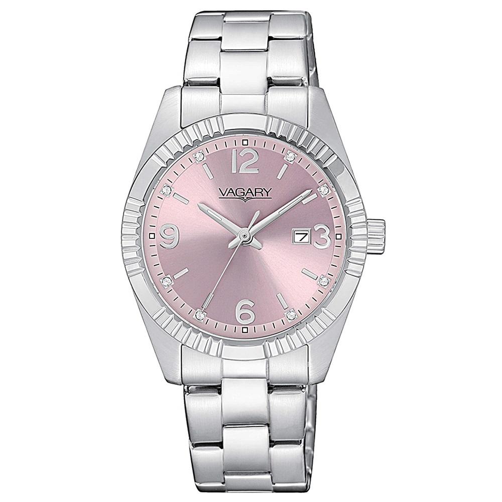 Vagary Timeless Lady, quadrante rosa con cristalli