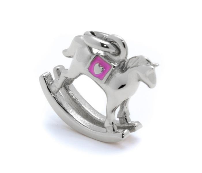 Marlù Ciondolo La Prima Coccola -Charm cavallino a dondolo rosa