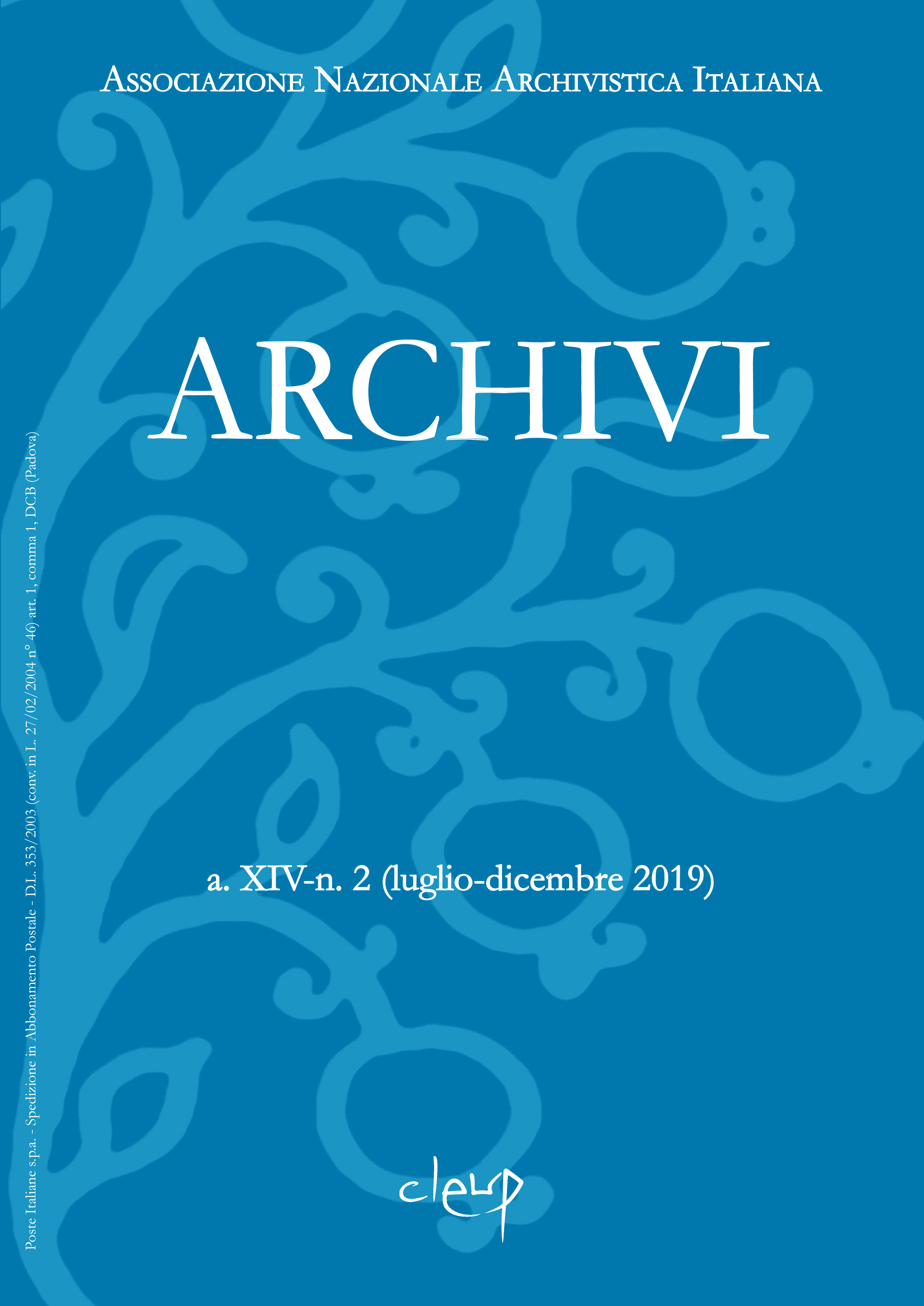 Archivi a. XIV-n. 2 (luglio-dicembre 2019)