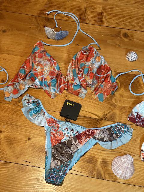 Bikini Triangolo e slip brasiliano volant Sanctuary Taglia M