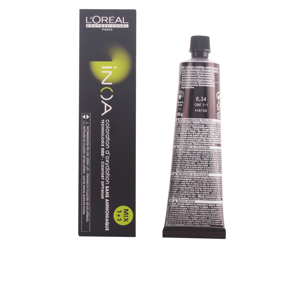 INOA coloration d'oxydation sans amoniaque #8,34 60 gr