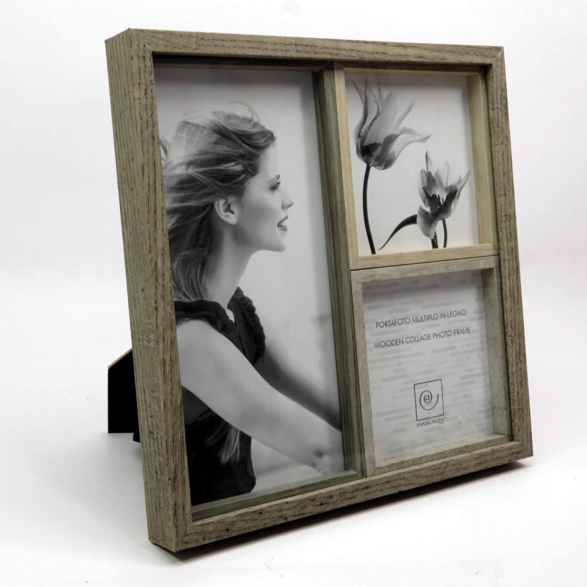 Cornice 3 foto in legno Mascagni