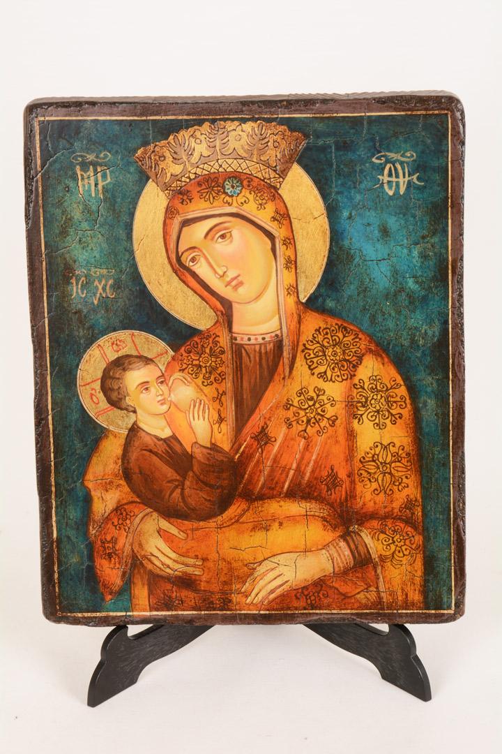Icona rumena 18x22 - Madre di Dio