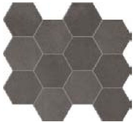 COLLEZIONE GLANCE MOSAICO ESAGONALE COAL CM.28,8X33,2 NATURALE RECT 1° SCELTA