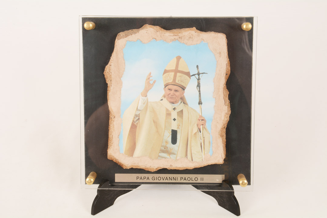 Quadro Papa Giovanno Paolo II cm 17x17