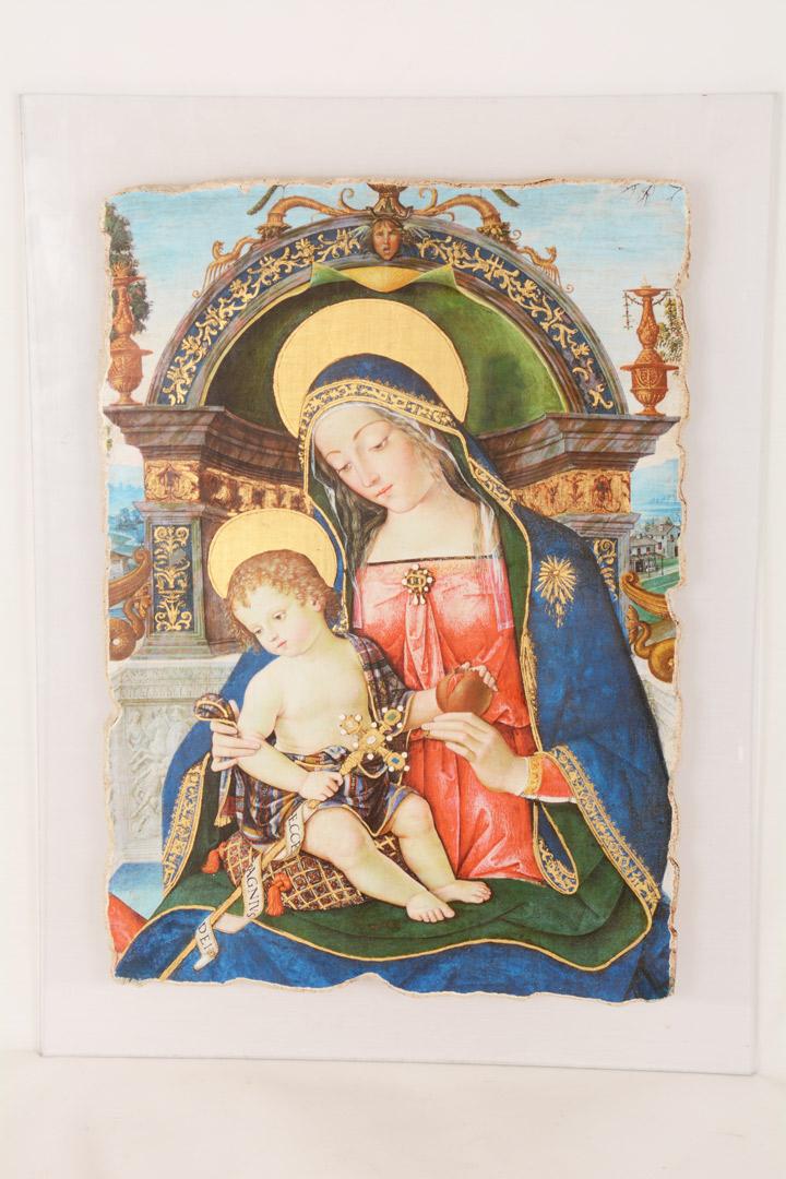 Quadro Madonna con Bambino cm 28x40
