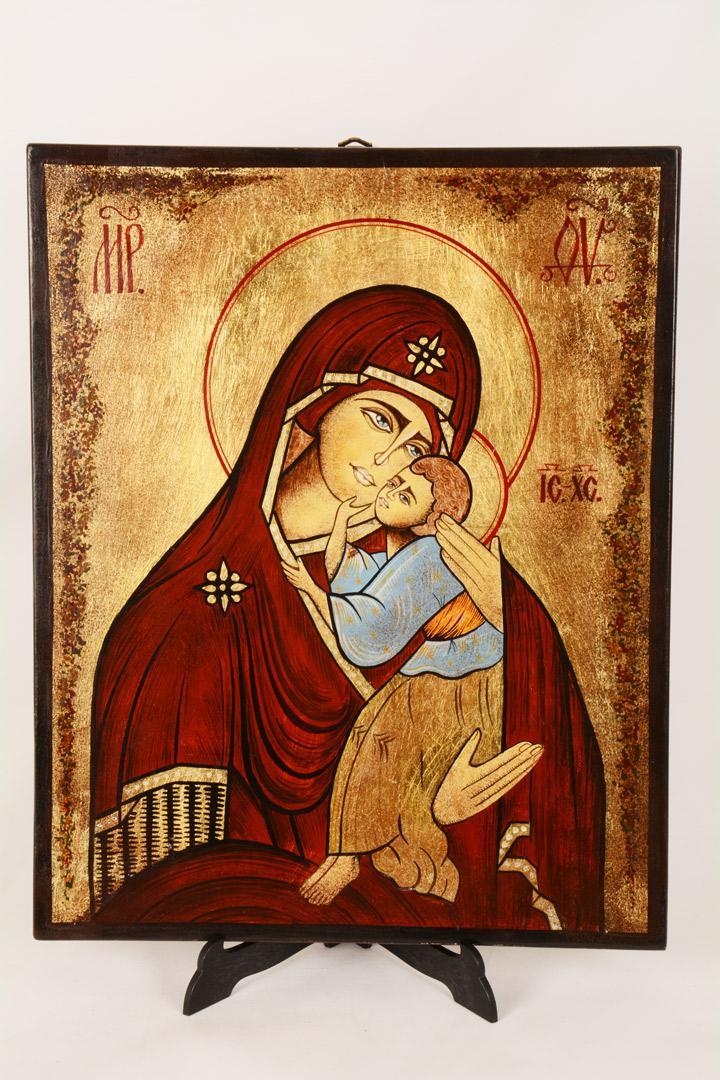 Icona rumena 29x32 - Madonna con Bambino