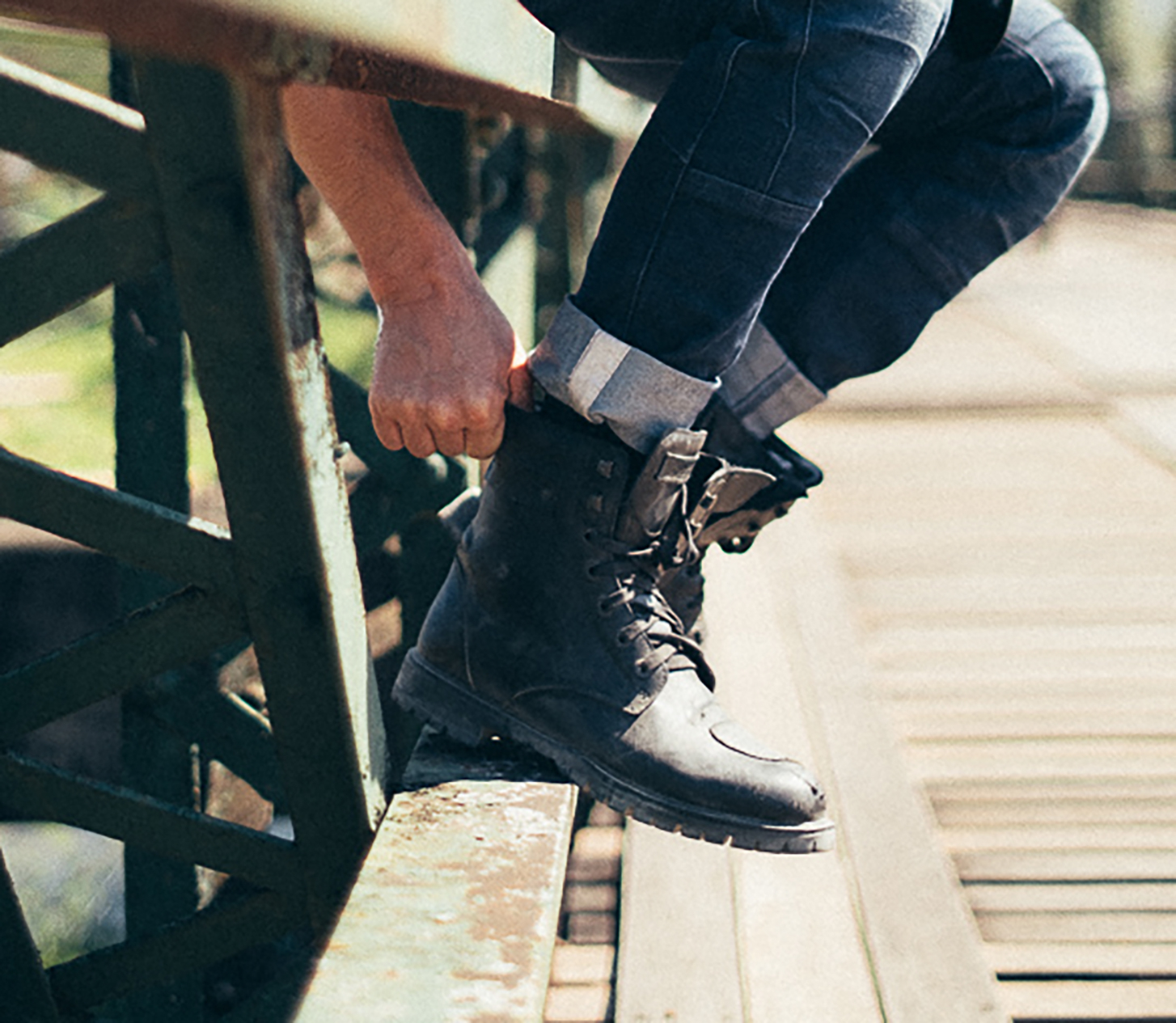 How to style motorcycle boots