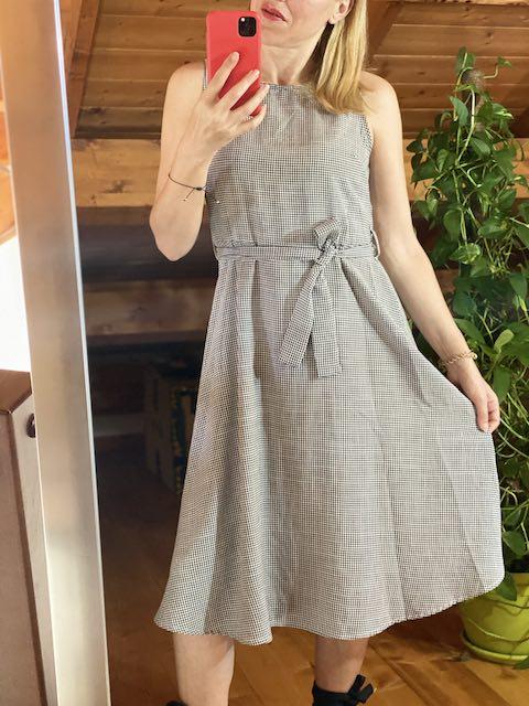 Vestito Fantasia Vichy con cintura fiocco