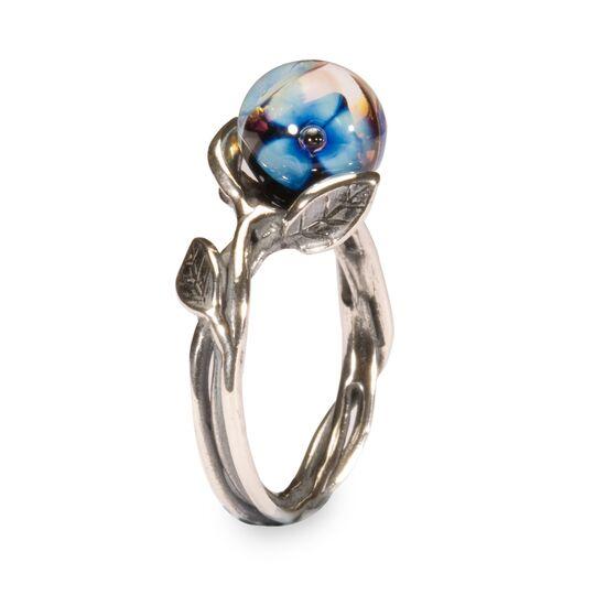 Trollbeads, Anello con Fiore Blu