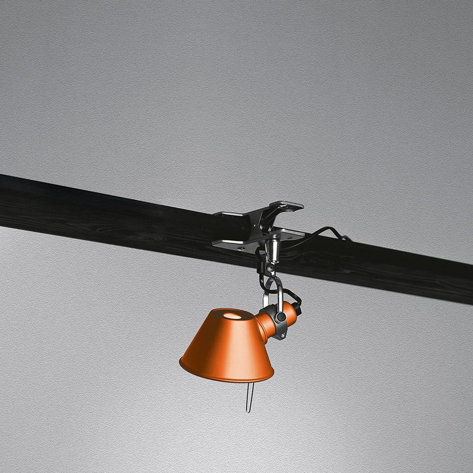 ARTEMIDE LAMPADA TOLOMEO MICRO PINZA ARANCIONE