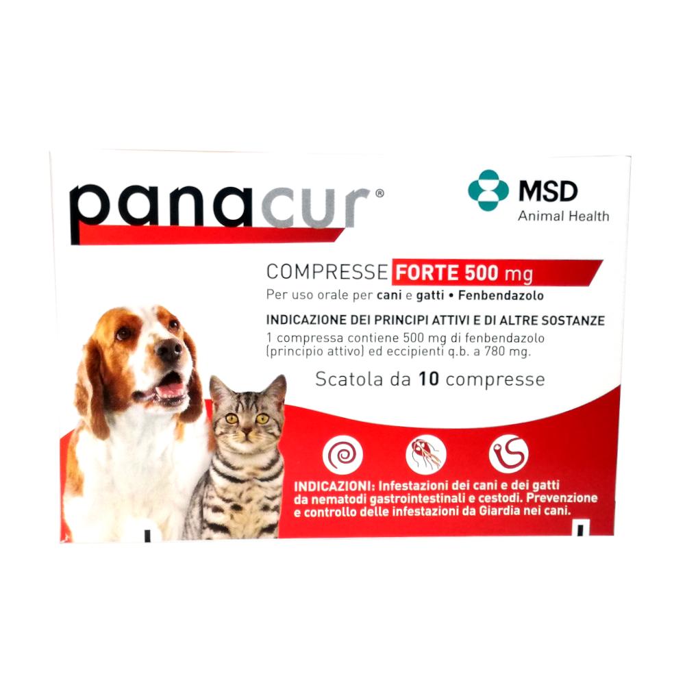 PANACUR 500 mg FORTE - contro i parassiti intestinali cane e gatto