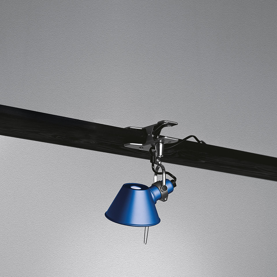 ARTEMIDE LAMPADA TOLOMEO MICRO PINZA BLU