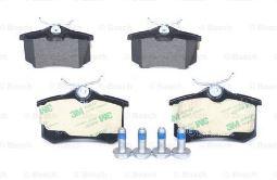 Serie pastiglie anteriori VW GOLF VI, POLO, AUDI A1. Skoda Octavia, BOSCH,