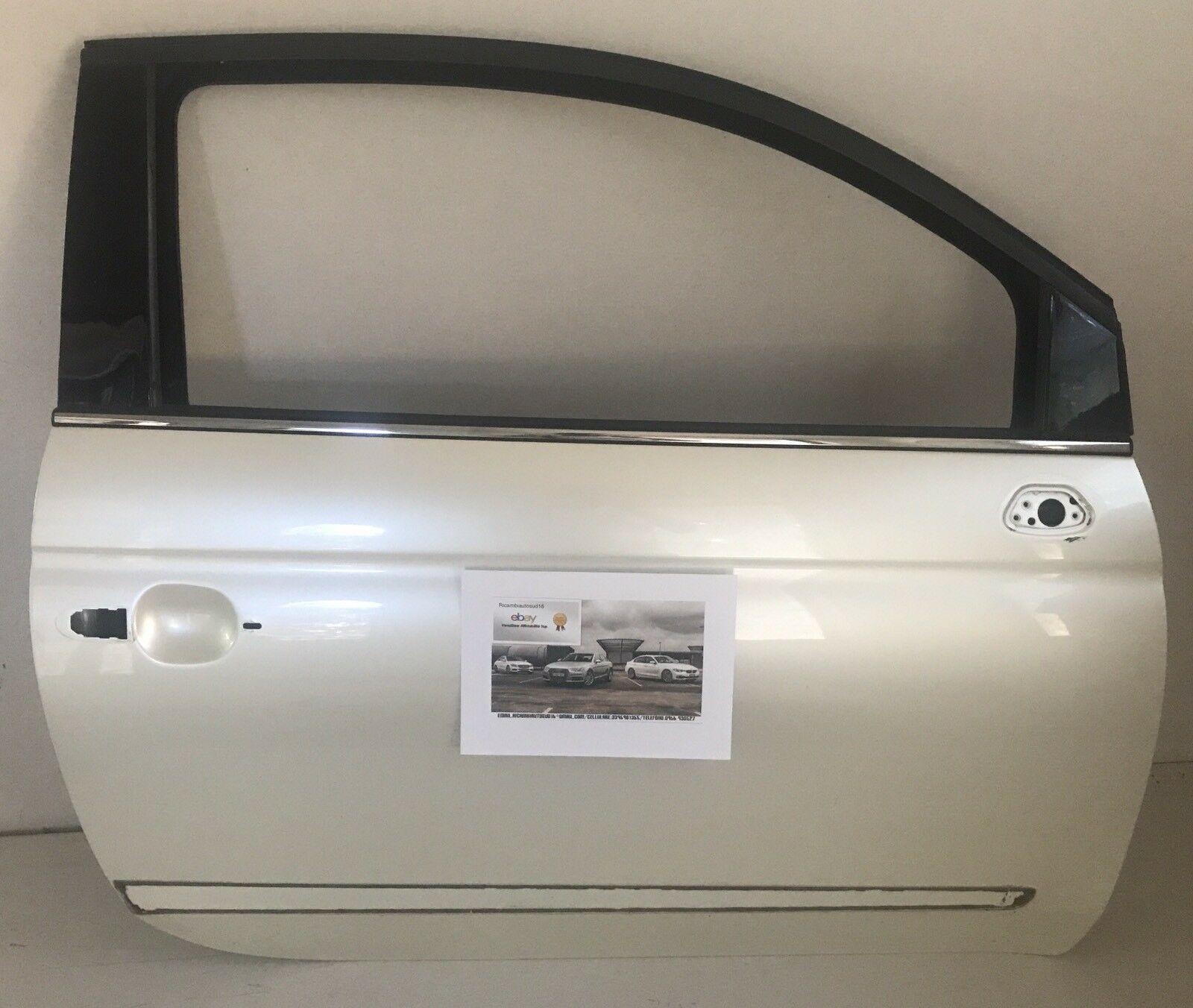 Portiera Anteriore Dx Fiat 500 Colore Bianco Perla Anno 2009 Originale