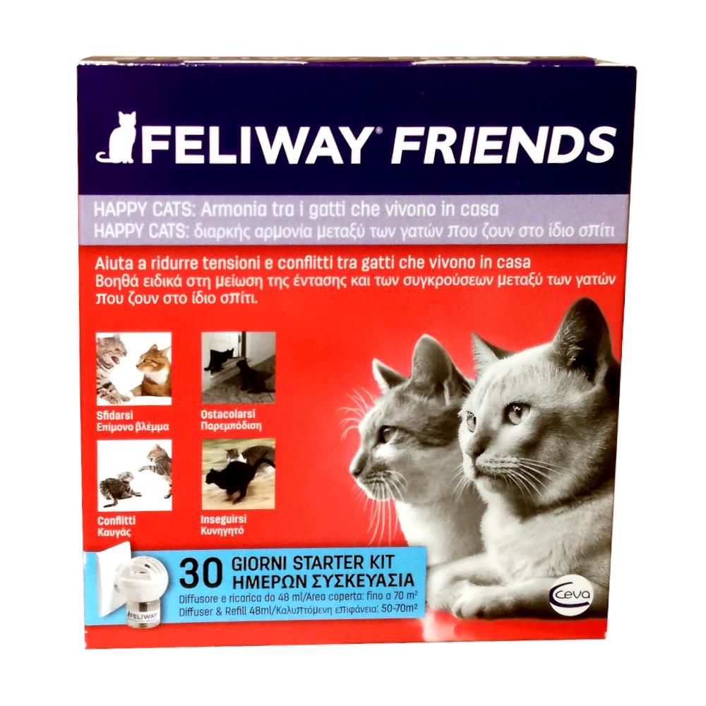 FELIWAY FRIENDS (diffusore + ricarica 48 ml) – Armonia tra gatti che vivono in casa