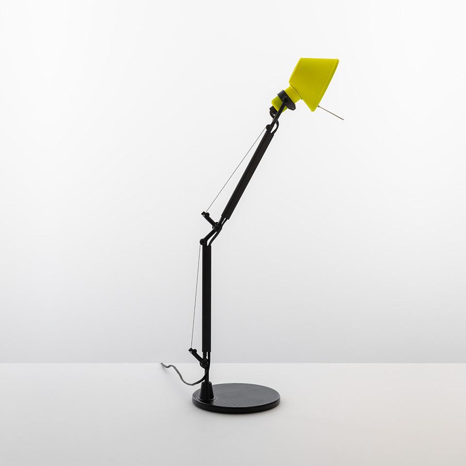 ARTEMIDE LAMPADA TOLOMEO  MICRO TABLE  BICOLOR NERO-GIALLO