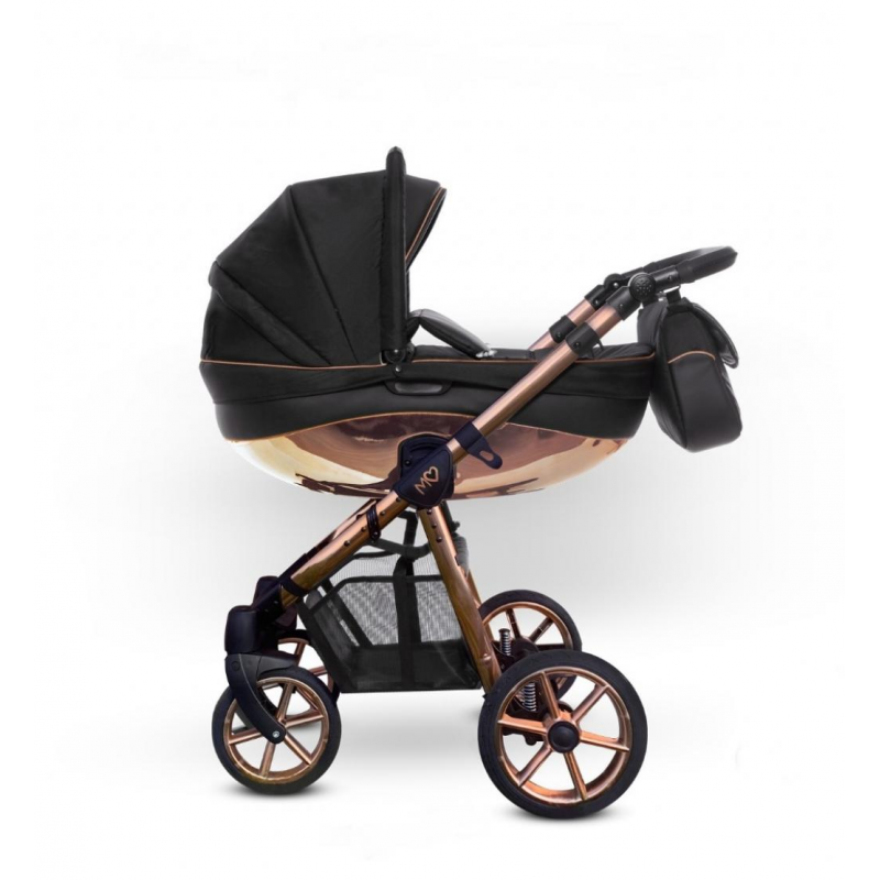 Baby Atelier - TRIO BABYACTIVE MOMMY GLOSSY ROSE GOLD - black