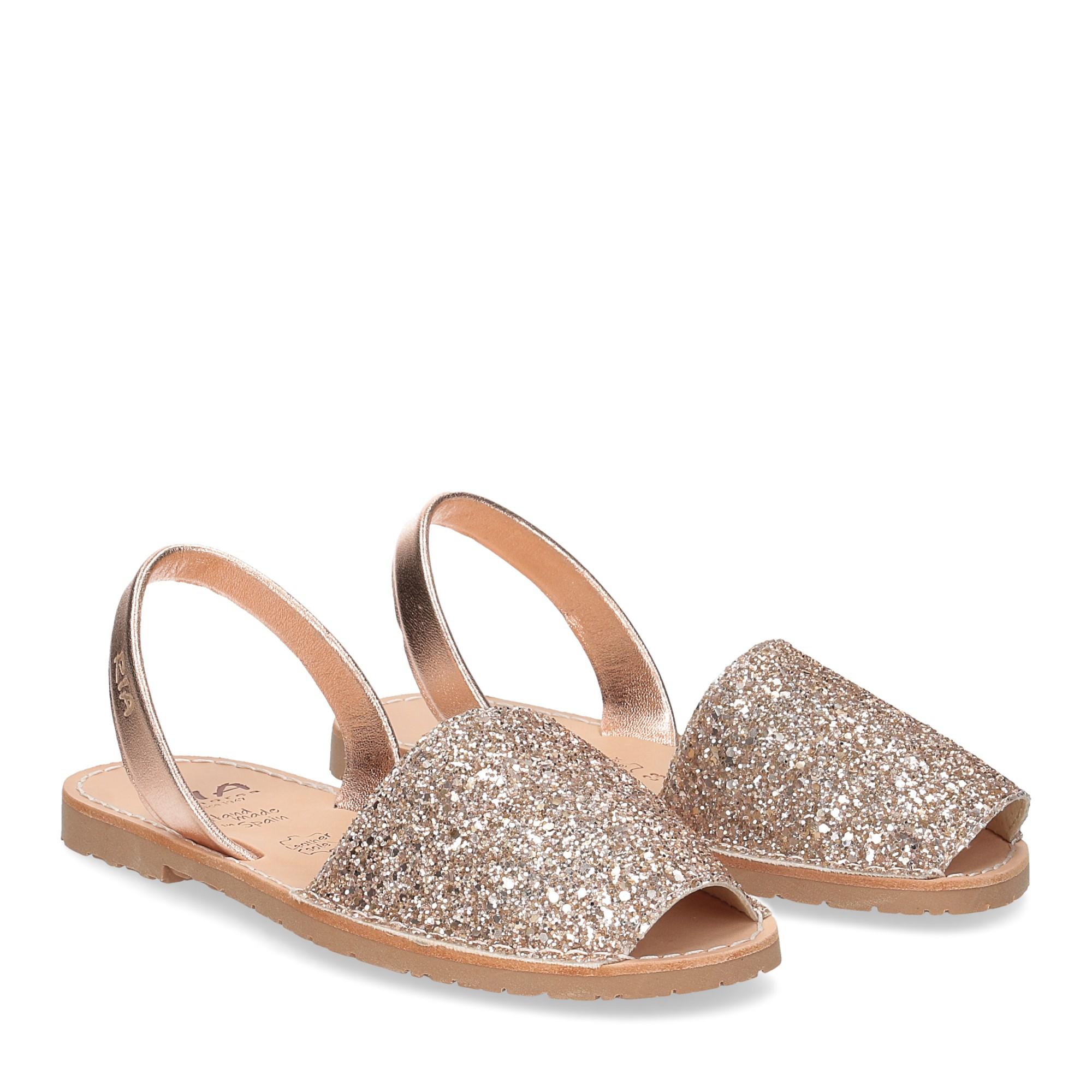 Ria Menorca sandalo minorchina oro rosa glitter