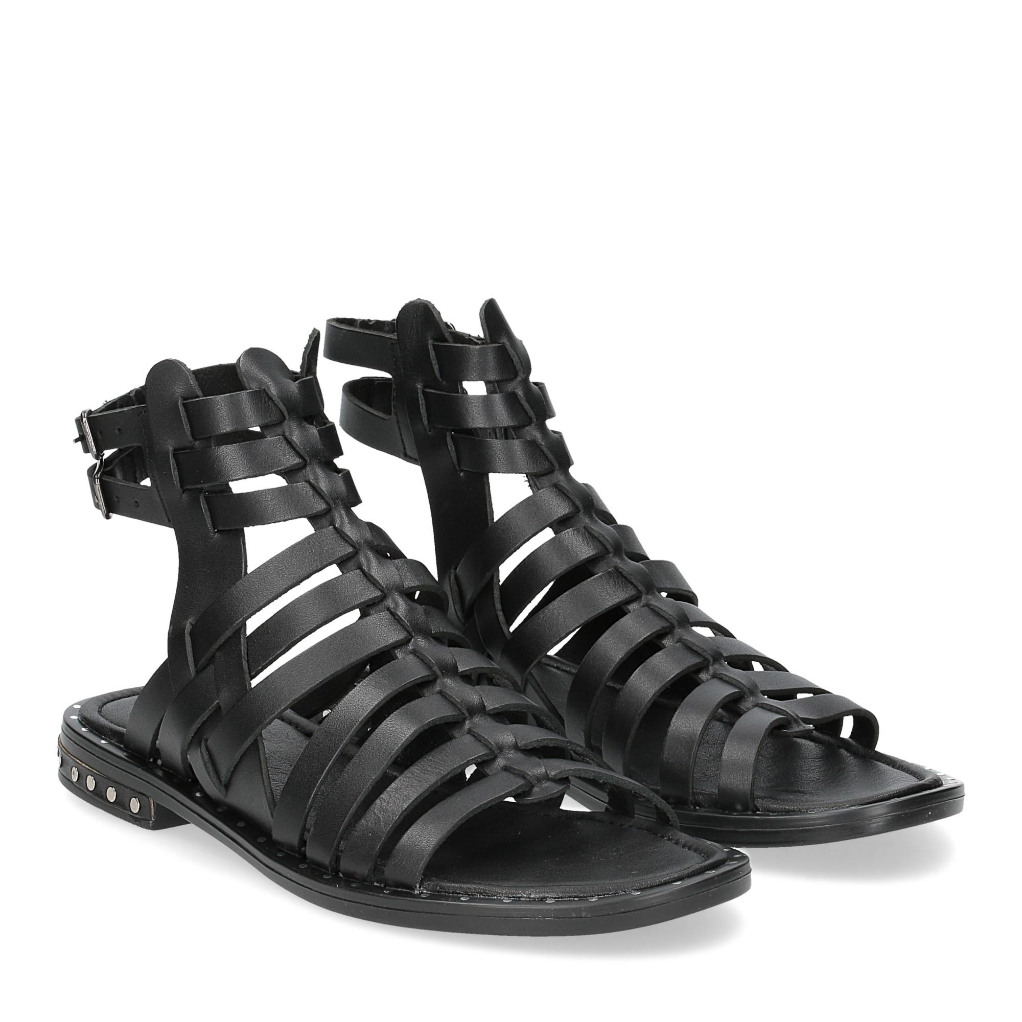 Il Laccio sandalo F-288-8 pelle nero