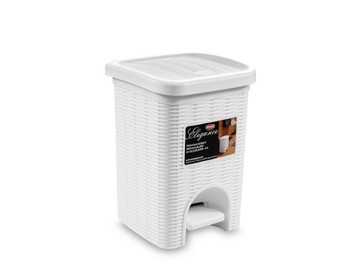 Pattumiera elegance bianca 6 litri