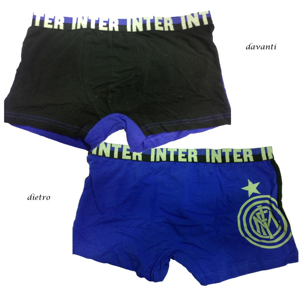INTER boxer nero blu in cotone underwear taglia XL da uomo