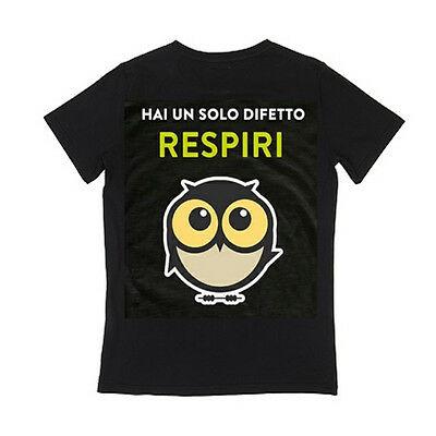 IO TI MALEDICO t-shirt HAI SOLO UN DIFETTO RESPIRI...  cotone 100% BY PANINI