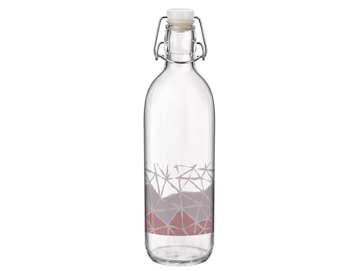 Bottiglia in vetro 1 litro con decoro intreccio