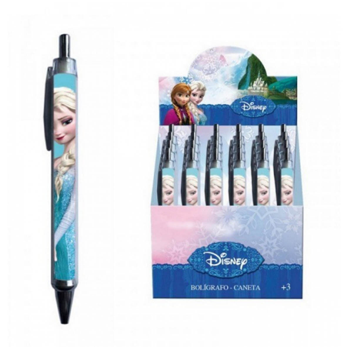 FROZEN ELSA penna a scatto azzurra scuola 13,5 cm