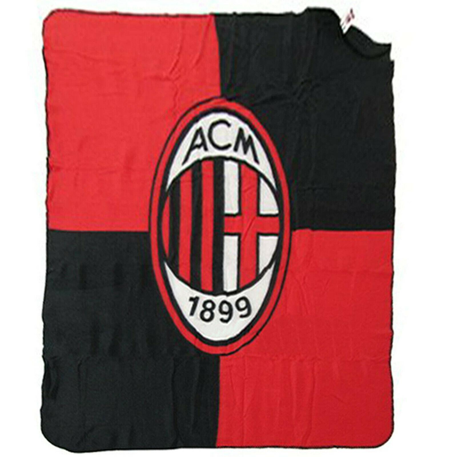 MILAN plaid rosso e nero in pile leggero e caldo 130x160 cm prodotto ufficiale